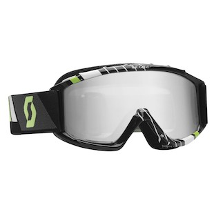 Scott Youth 89Si Pro Goggles (Color: Black/Green / Lens: Silver Mirror) 989236