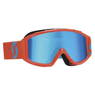 Scott Youth 89Si Pro Goggles (Color: Orange/Blue / Lens: Silver Mirror) 989237