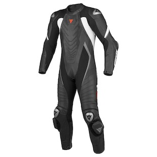 Dainese Aero EVO C2 Race Suit [Size 46 Only] (Color: Black/Black/White / Size: 46) 990380