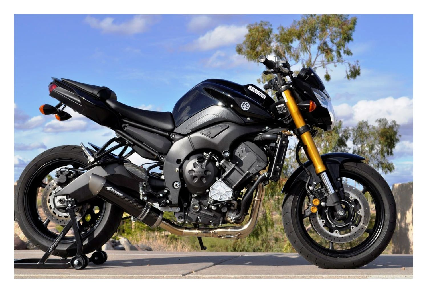 Graves Oval Exhaust System Yamaha Fz8 2011-2012