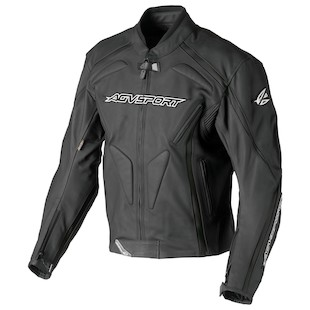 AGV Sport Dragon Leather Jacket (Color: Black / Size: 46) 615228