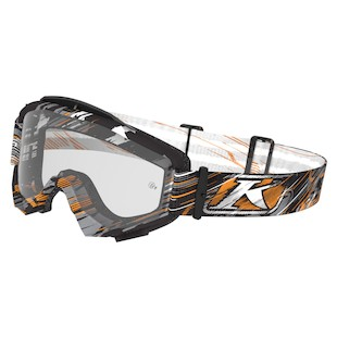 Klim Radius Moto Goggles (Color: Scarred Ash / Lens: Clear) 969674