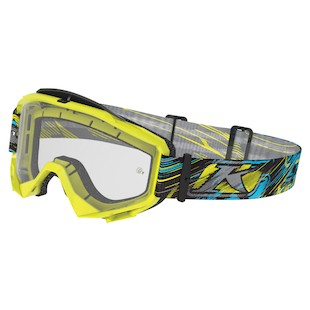 Klim Radius Moto Goggles (Color: Scarred Voltage / Lens: Clear) 998225