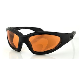 Bobster GXR Convertible Goggles / Sunglasses (Color: Black / Lens: Amber) 147033