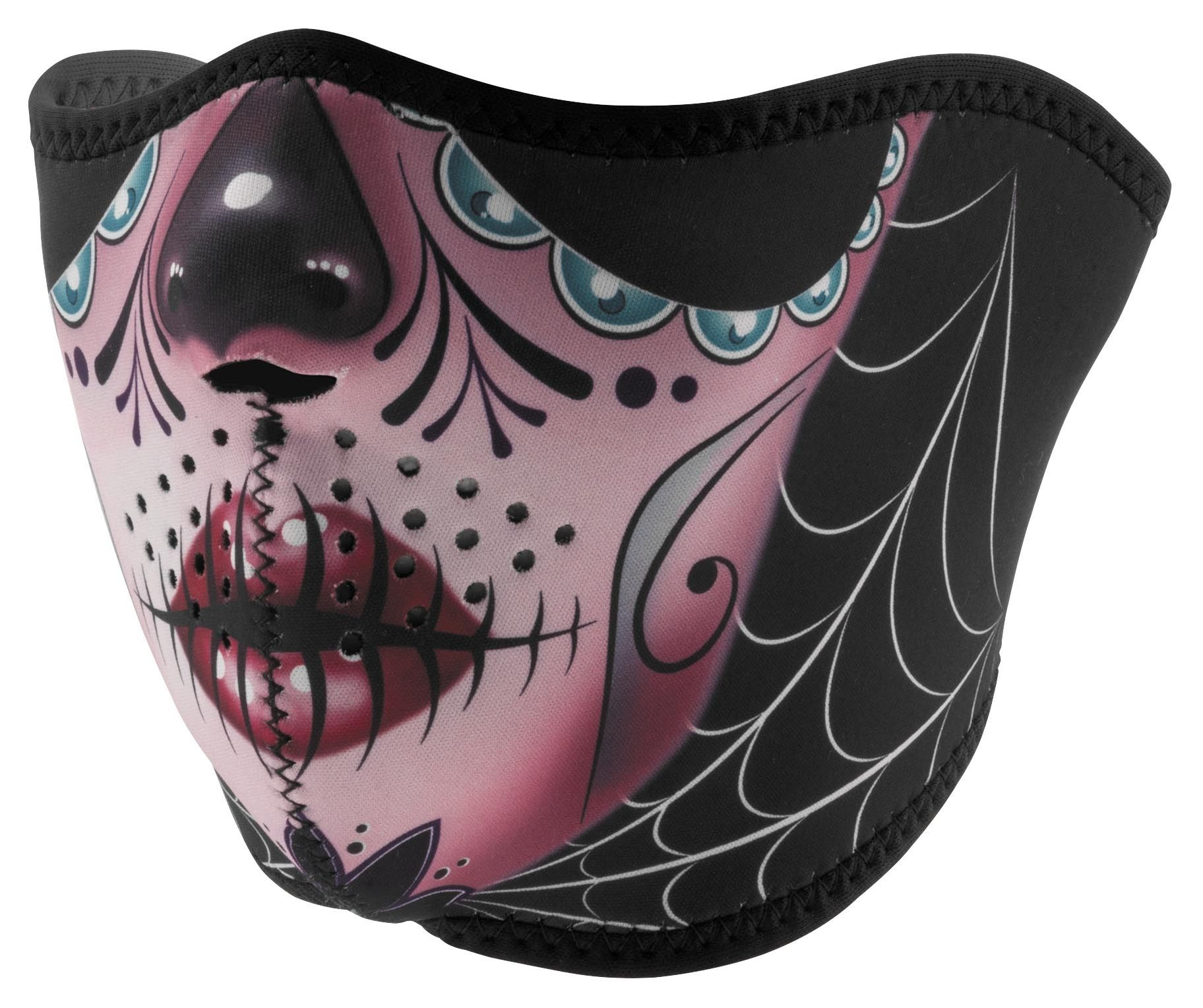 Zanheadgear Skull Neoprene Half Mask Cycle Gear