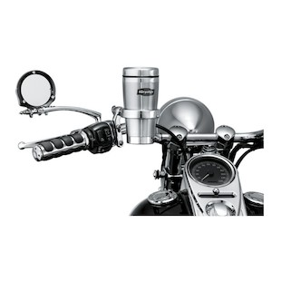 Kuryakyn Drink Holder Hand Control Perch For Harley 1982-2016 (Type: With Stainless Mug / Finish: Chrome) 999433