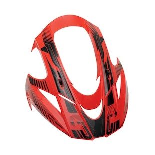 Icon Variant Carbon Cyclic Visor (Color: Red) 847824