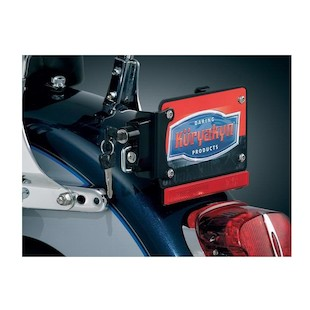 Kuryakyn Universal License Plate Helmet Lock With Mount 1000174