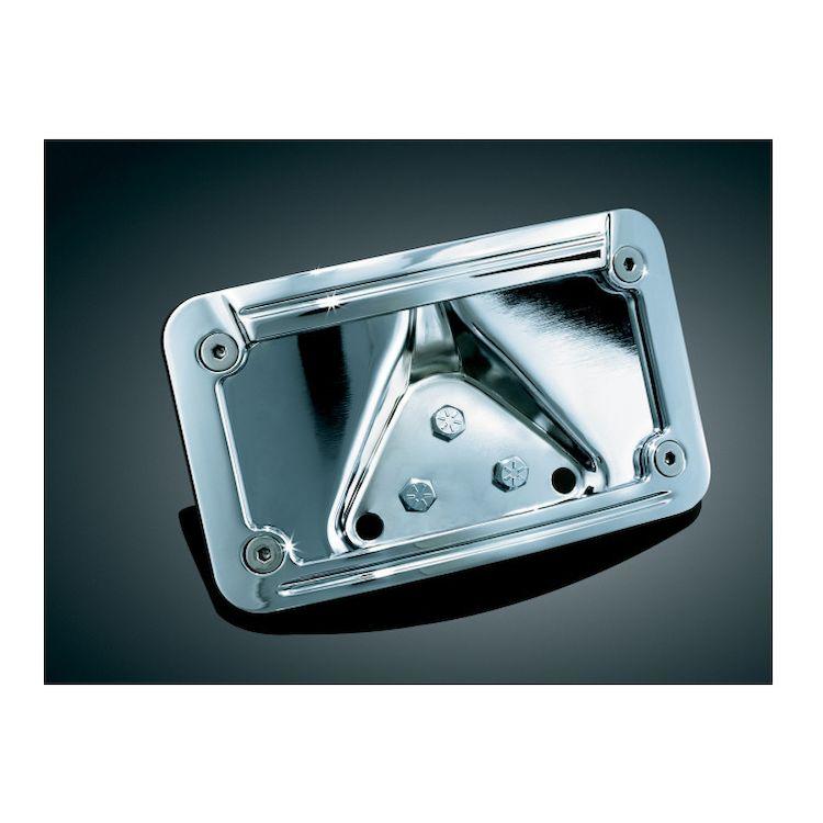Kuryakyn LED Curved Laydown License Plate Frame For Harley