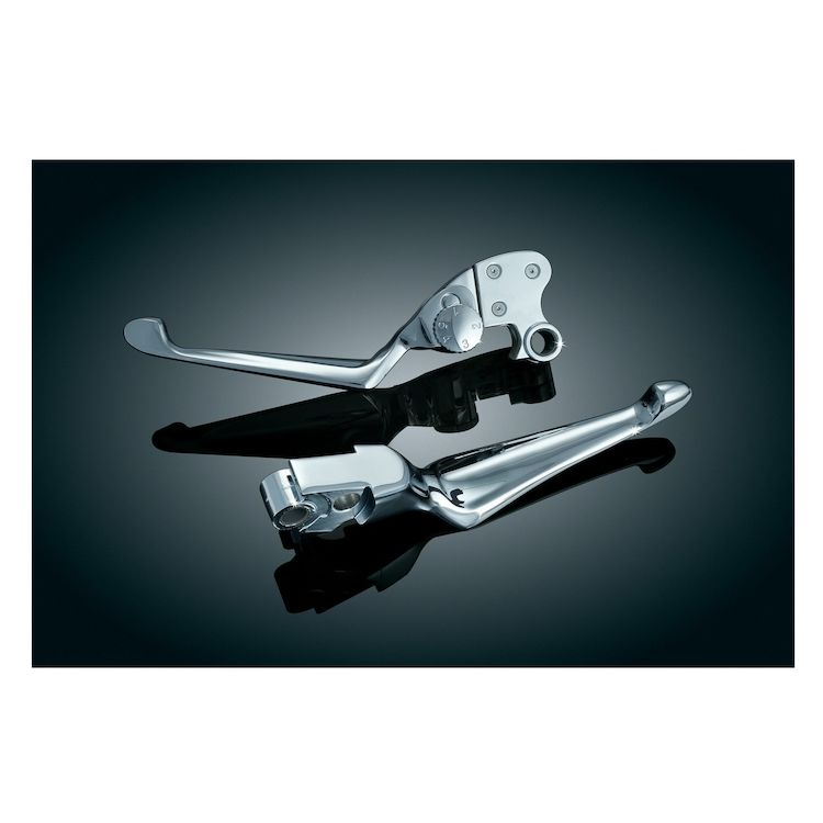 Kuryakyn Boss Blades Brake And Adjustable Clutch Lever For Harley Sportster 2004-2013