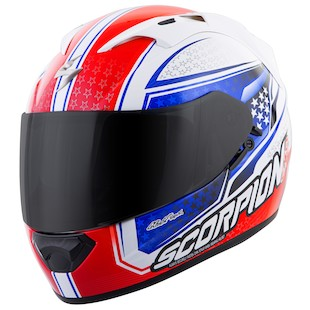 Scorpion EXO-T1200 Mainstay Full Face Helmet Silver/Black/Blue MD 293629622