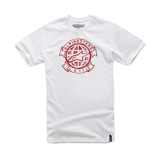 Alpinestars Scrawl T-Shirt (Color: White / Size: XL) 1008765