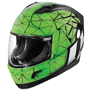 Icon Alliance Crysmatic Helmet (Color: Green / Size: 2XL) 1009555