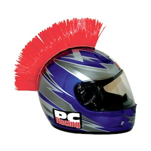 PC Racing Helmet Mohawk (Color: Red) 1011550