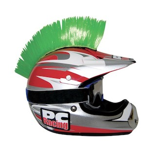 PC Racing Helmet Mohawk (Color: Green) 1011551