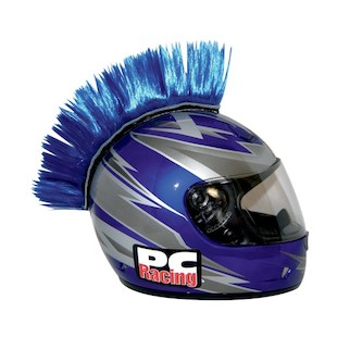 PC Racing Helmet Mohawk (Color: Blue)