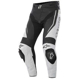 Alpinestars Track Leather Pants (Color: White/Black / Size: 52) 1012277