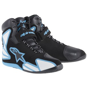 Alpinestars Fastback WP Riding Shoes (Color: Black/Blue / Size: 14) 1011819