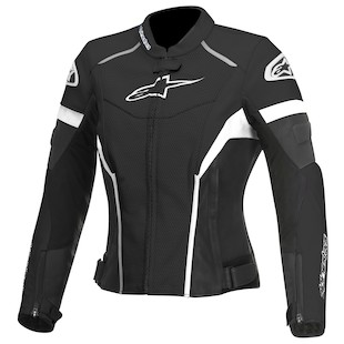Alpinestars Stella GP Plus R Perforated Jacket (Color: Black/White / Size: 38) 1012282