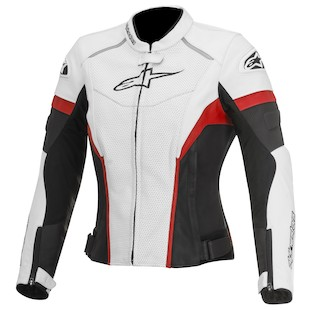 Alpinestars Stella GP Plus R Perforated Jacket (Color: White/Black/Red / Size: 42) 1012298
