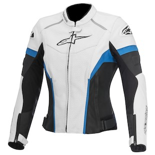 Alpinestars Stella GP Plus R Perforated Jacket (Color: White/Black/Blue / Size: 38) 1012303