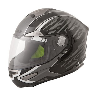 Fly Luxx Shock Helmet (Color: Black/Silver / Size: SM) 1017098