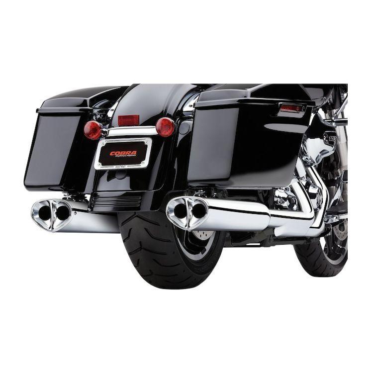 Cobra Tri-Oval II Slip-On Mufflers For Harley Touring 1995-2016
