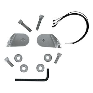 Memphis Shades Black Front Turn Signal Relocation Kit MEB8984