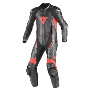 Dainese Trickster EVO C2 Perforated Race Suit (Color: Black/Black/Fluo Red / Size: 44) 990333