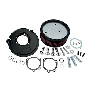 Arlen Ness Naked Stage 1 Big Sucker Air Cleaner For Harley Sportster 1991-2018 (Type: Black Backing Plate / Standard Air Filter / Fitment: For OEM Covers) 1017503