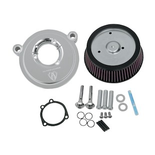 Arlen Ness Naked Stage 1 Big Sucker Air Cleaner For Harley Twin Cam 1999-2015 (Material: Synthetic Stainless Jacketed Air Filter / Finish: Black Backing Plate) 1082750