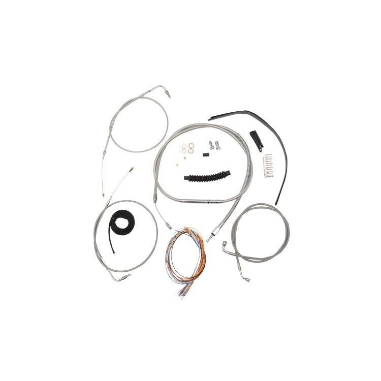 LA Choppers Handlebar Cable Brake Line And Wire Kit For Harley Softail 1996-2006