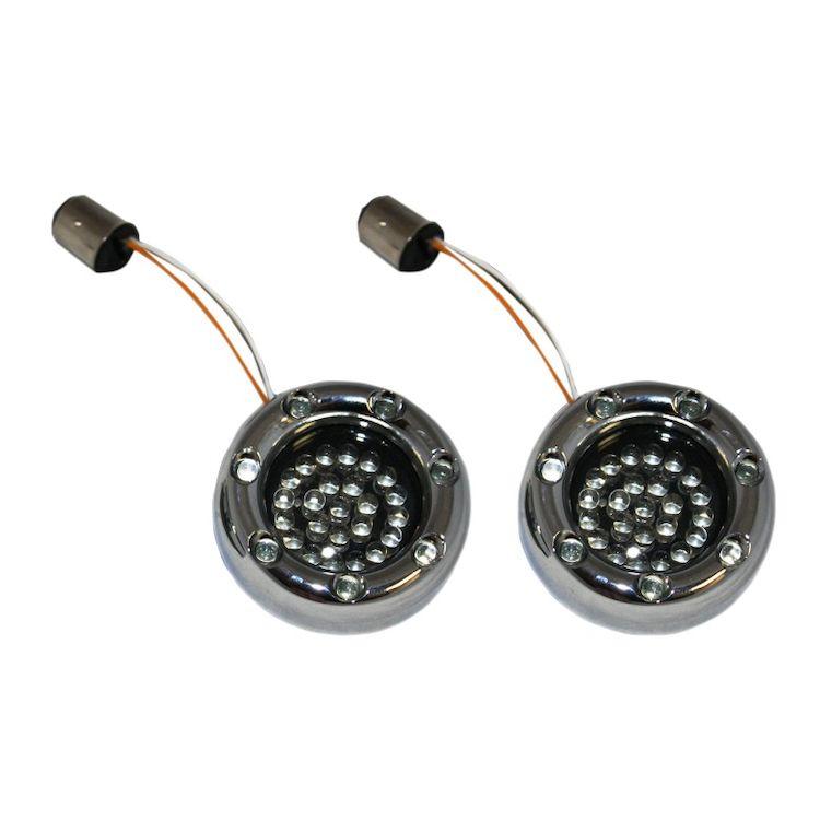 Custom Dynamics LED Deuce Bullet Rings For Harley 1157 Bulb