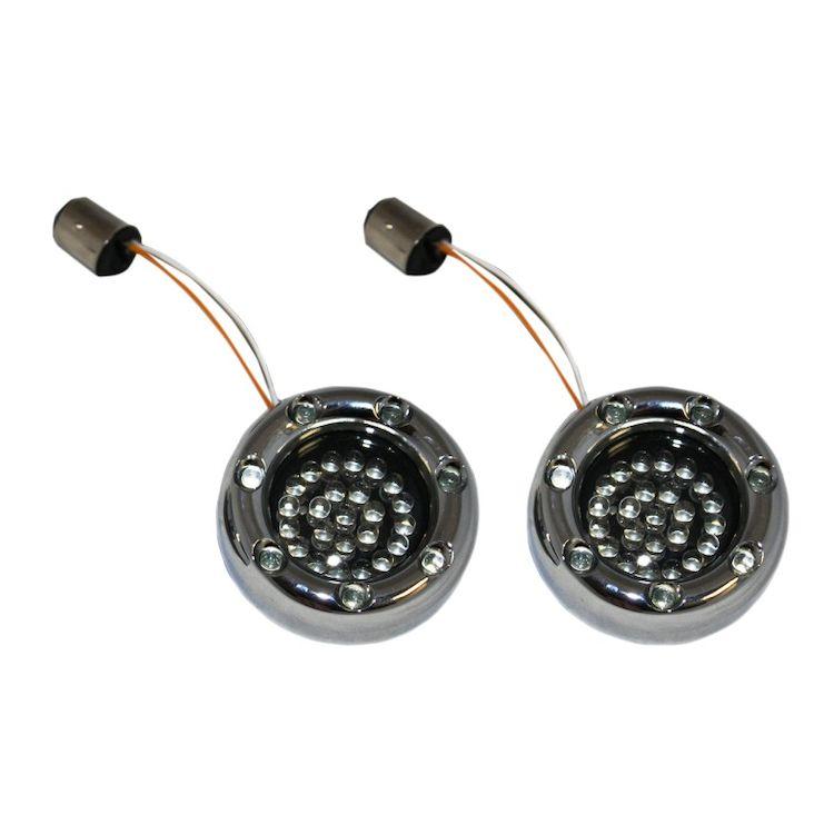 Custom Dynamics LED Deuce Bullet Rings For Harley 1156 Bulb