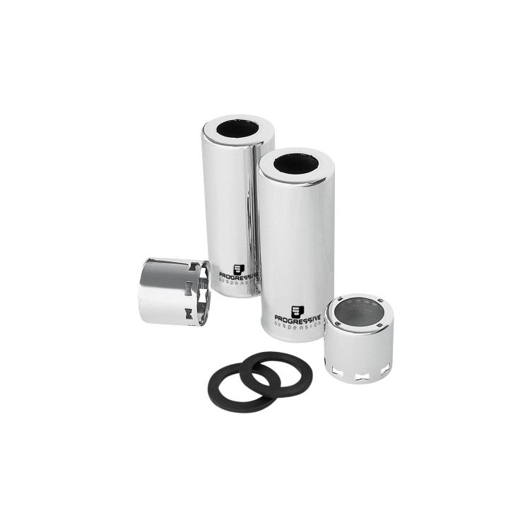 Progressive Chrome 412 Rear Shock Covers For Harley 1984-2020