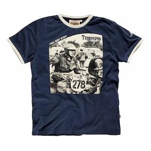 Triumph McQueen ISDT Sketch T-Shirt (Color: Blue / Size: 3XL) 1021883