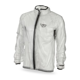 Fly Racing Clear Rain Jacket (Color: Clear / Size: SM) 1023725