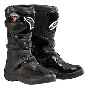 Alpinestars Youth Tech 3S Boots (Color: Black / Size: 2) 506895