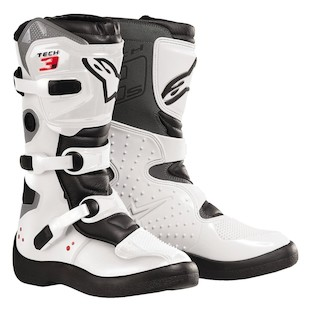 Alpinestars Youth Tech 3S Boots (Color: White / Size: 8) 506913