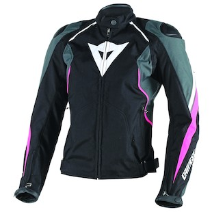 Dainese Raptors Women's Jacket (Color: Black/Anthracite/Fuchsia / Size: 38) 1029387