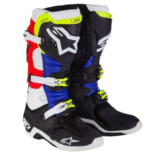 Alpinestars Tech 10 Barcia Boots (Size 12 Only) (Color: Black/Red/Blue / Size: 12) 1035266