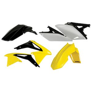 Acerbis X-Grip Frame Guards Yellow//Black for Suzuki RMZ450 2008-2017