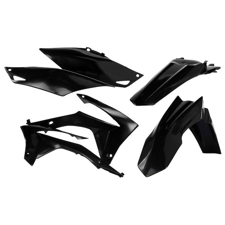Acerbis Replica Plastic Kit Black for Yamaha WR450F 2016-2018