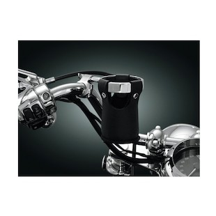 Kuryakyn Drink Holder Hand Control Perch For Harley 1982-2016 (Type: With Removable Pouch / Finish: Chrome) 1039850