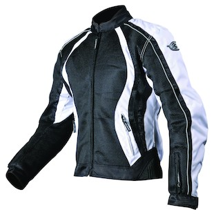 AGV Sport Xena Women's Mesh Jacket (Color: Black/White / Size: MD) 832838