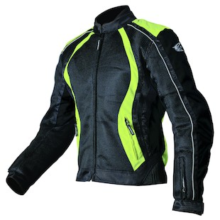 AGV Sport Xena Women's Mesh Jacket (Color: Black/Hi-Viz Yellow / Size: MD) 942124