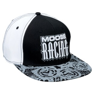 Moose Racing Arcane Hat (Color: Black/White) 1048519