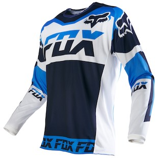 Fox Racing 180 Mako Jersey (Color: White / Size: LG) 1057382