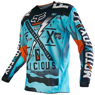 Fox Racing 180 Vicious Jersey (Size 2XL Only) (Color: Aqua / Size: 2XL) 1057411