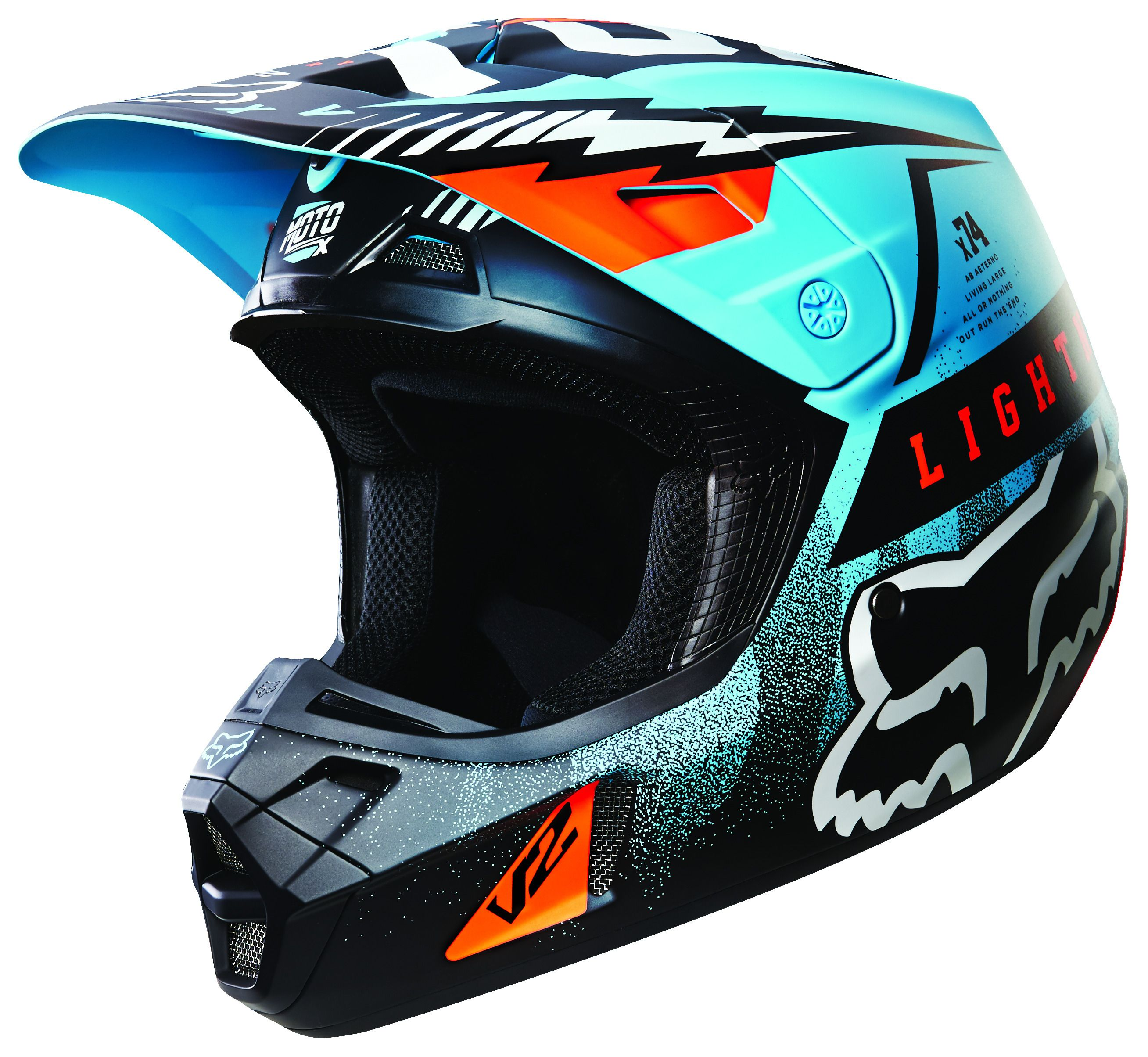 Fox Racing V2 Vicious Helmet Cycle Gear